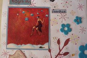 Scrapbooking : page avec Utee