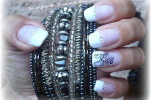 French blanche - Swarovski et tatoo