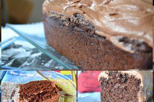 Cake au chocolat et son glaçage