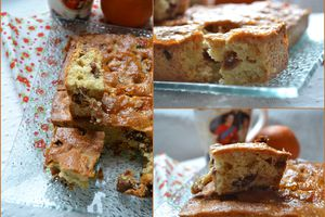 Cake aux fruits secs et orange confite
