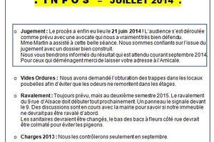 INFO juillet 2014