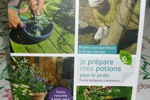 """un livre bien utile """"potions naturelles pour le jardin"""""""