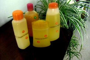 2 gels douche,orange .... verveine exotique