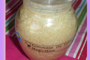 gommage de corps gourmand,
