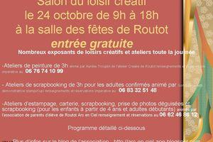 affiche du salon du loisir créatif du 24 octobre