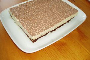 Mousse de Bailey's sur son fondant au chocolat