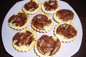 Tartelette choco-poire version Mini