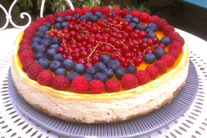 Cheesecake passion & fruits rouges