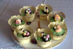 Cupcake de pâques au chocolat
