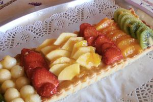 Tarte en bandes aux fruits