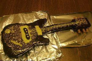 Tutoriel: gâteau guitare électrique