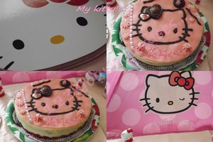 Mes fraisiers Hello kitty