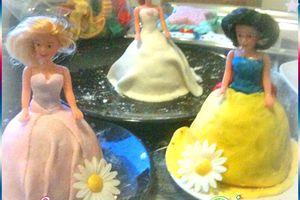 Atelier pâte à sucre princesses Disney, avec mes petites cousines