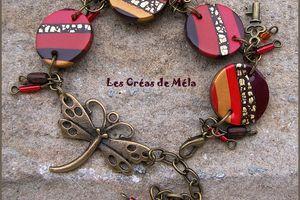 Bracelet petites lentilles à breloques