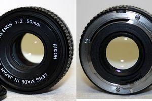 Objectif RIKENON RICOH 50 mm 1:2