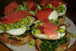 Bruschetta au pesto de persil