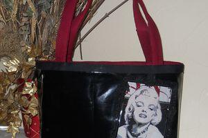 """Sac """"Marilyn"""", Sac Cuir Bleu, Collier Baroque....Etc!"""