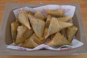 samossas boeuf et curry