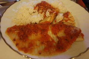 aile de raie sauce tomate au four