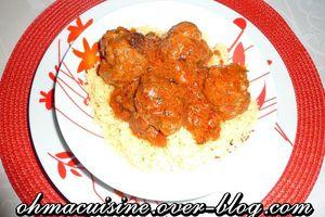 Boulettes tandoori et sauce tomate