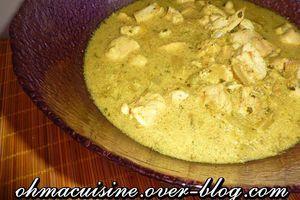 Curry de poulet à la mijoteuse