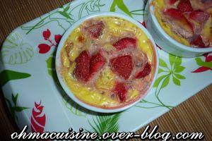Pamplemousse et fraise en gratin