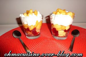 Verrine pommes chantilly