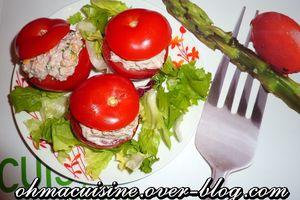 Tomates farcies aux sardines et fromage frais