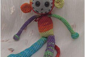 Doudou singe au crochet