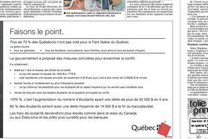 Conséquences de l'augmentation des frais de scolarité au Québec