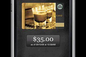 6800 Starbucks Cafe acceptent le paiement par smartphone avec l'appli my card avec prepaid.