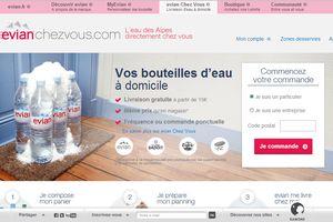 Evianchezvous.com : La livraison d'eau à domicile ça marche. Et le shopper aime !
