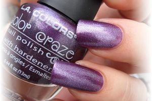 """vernis L.A. colors """" grapevine et perfect plum """""""