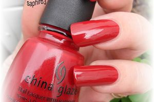 vernis china glaze adventure red-y - nails papillons