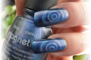 china glaze magnétique 2 sparks will fly - nails papillons