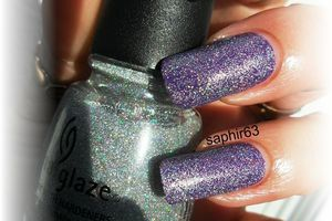 china glaze glistening snow - nails papillons