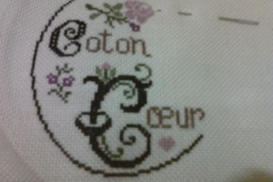 broderie mon initiale