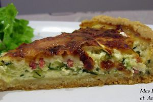 TARTE COURGETTES, CAMEMBERT ET BACON