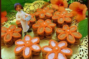 Biscuits aux cacahuètes fourrés au spéculoos de Colette