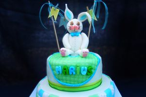 Gâteau de baptême Lapinou