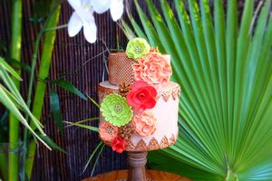 Wedding cake exotique chic