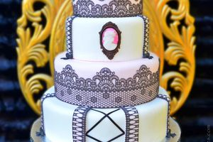 Wedding cake Glam' chic