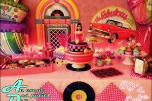 "Sweet table ""50's cafe"""
