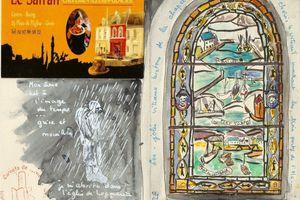 jour gris... vitraux de Locmaria... Groix J3