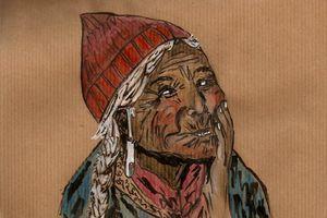 Vieille femme tibétaine...