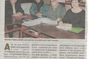 Municipales 2014 (conférence de presse Presse Océan 14/03/2013)
