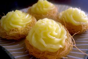 Kadaïf façon tarte au citron