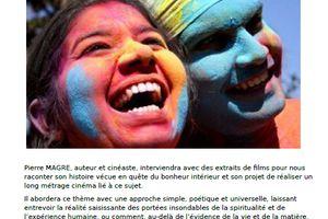 Vendredi 12 décembre - Projet de film: «A la rencontre des PEUPLES HEUREUX»