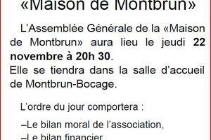 Assemblée générale de la maison de Montbrun(22 Novembre)