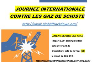 JOURNEE INTERNATIONALE CONTRE LES GAZ DE SCHISTE